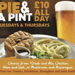 Pie & A Pint Thursdays