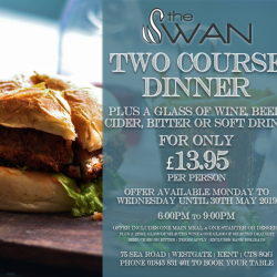 TWO COURSES & DRINK FOR £13.95!