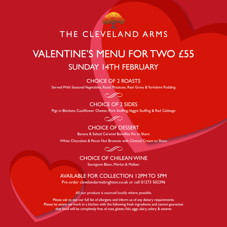 Valentines meal for 2!!