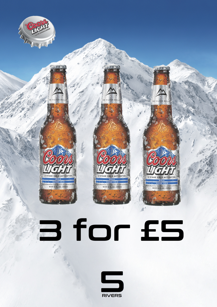 Coors Light 3 for £5