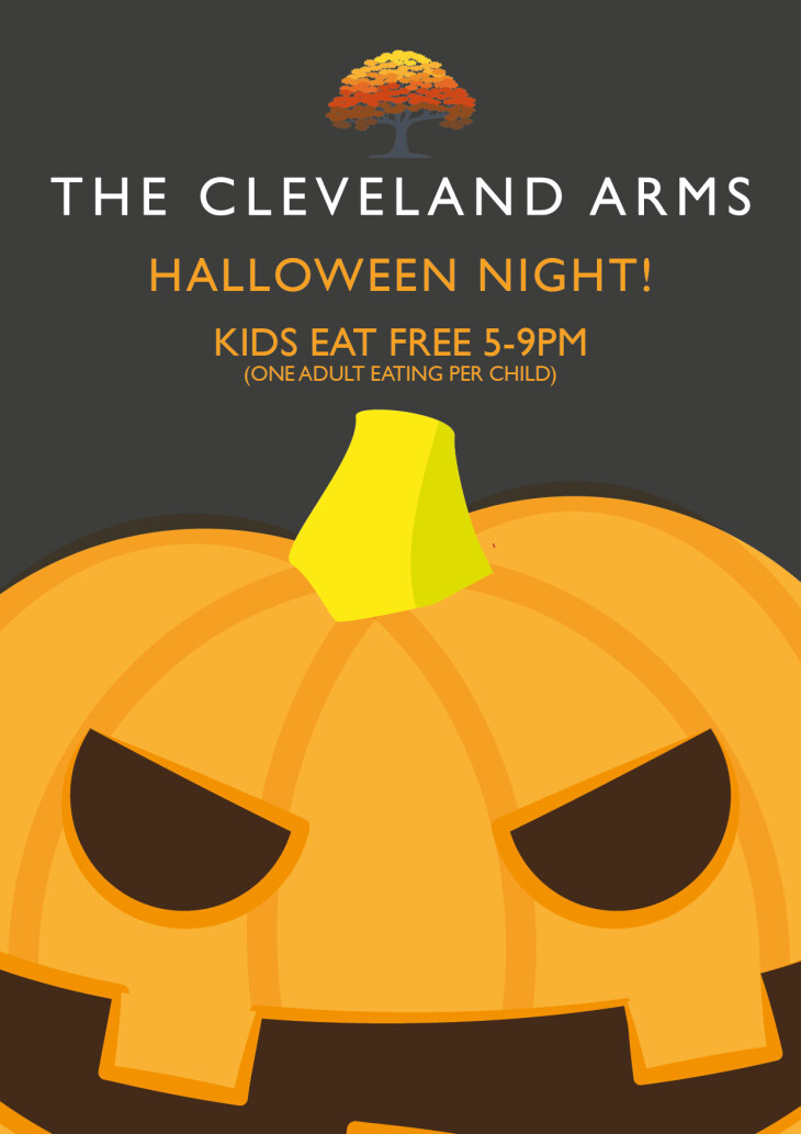 Kids eat free at Halloween!!