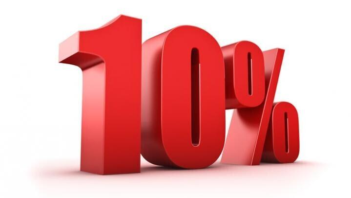 10% Discount Jan 2020 on-line Bookings