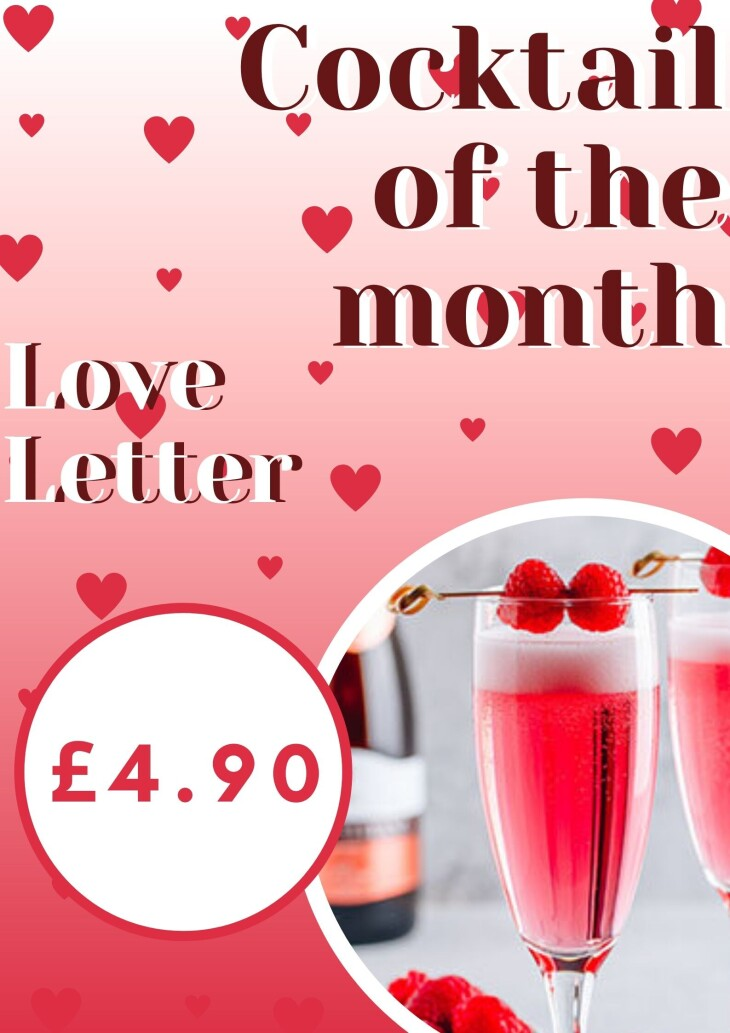 VALENTINE COCKTAIL OF THE MONTH