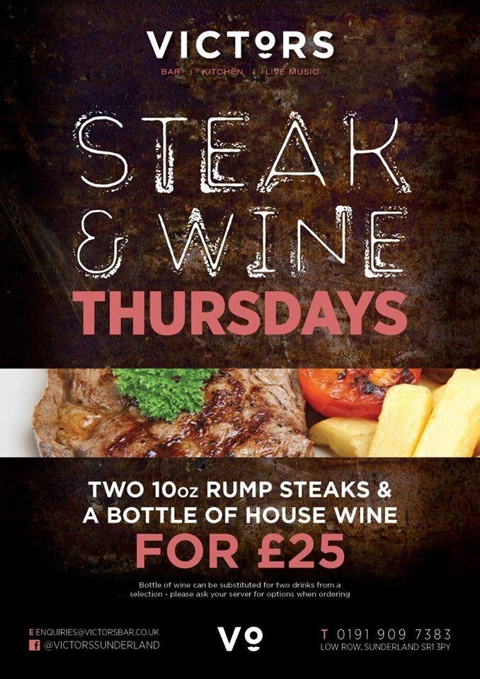 Steak & Wine Thursdays