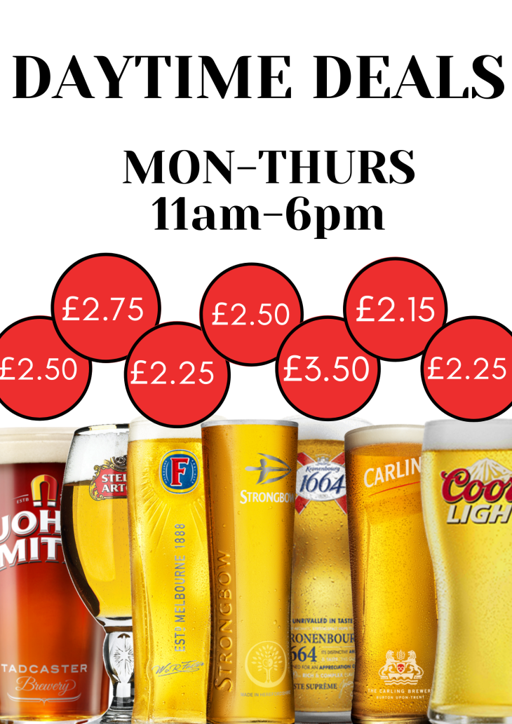THE DEALS ON DRAUGHT
