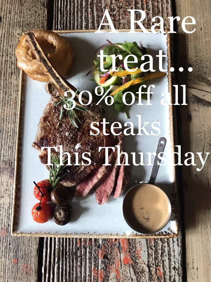 30% off all Steaks