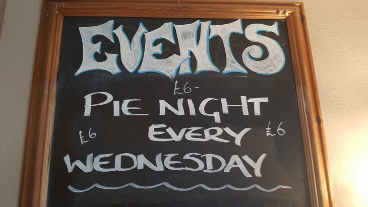 Pie Night Every Wednesday £6