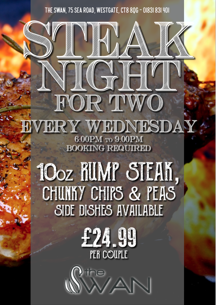 Introducing Steak Night at The Swan!