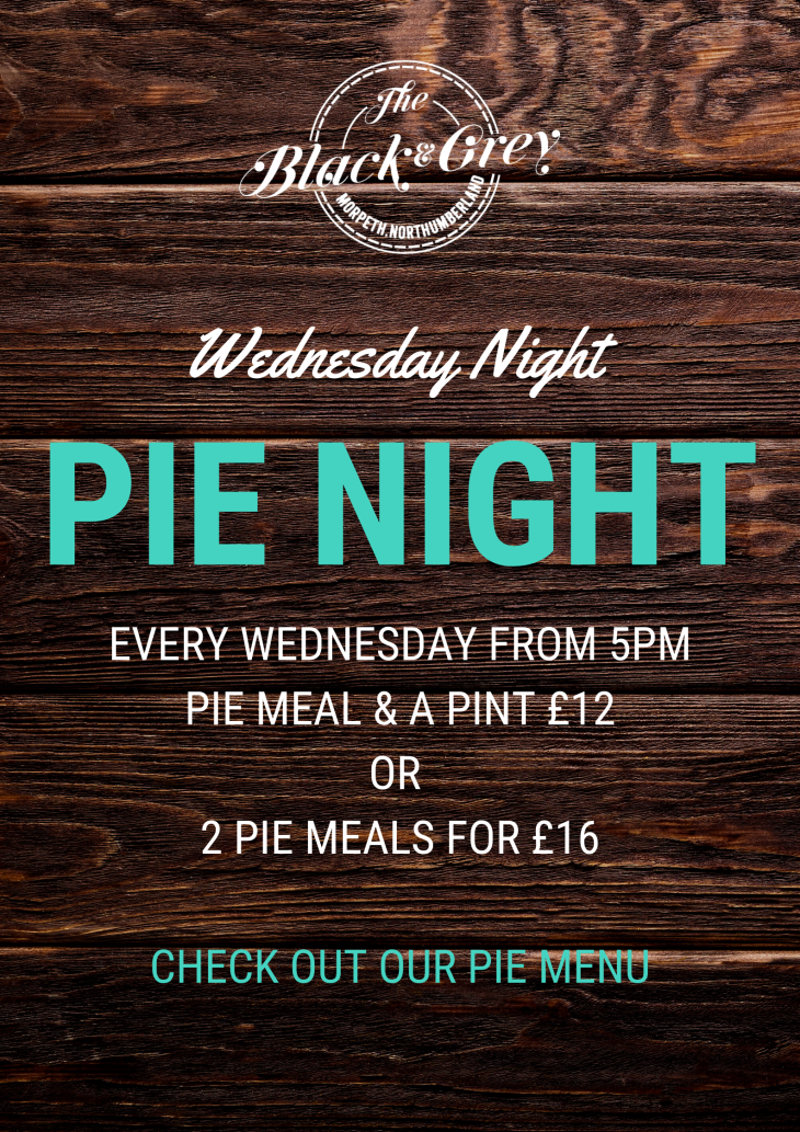 Pie Night Every Wednesday!