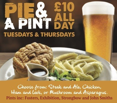 Pie & A Pint Thursdays