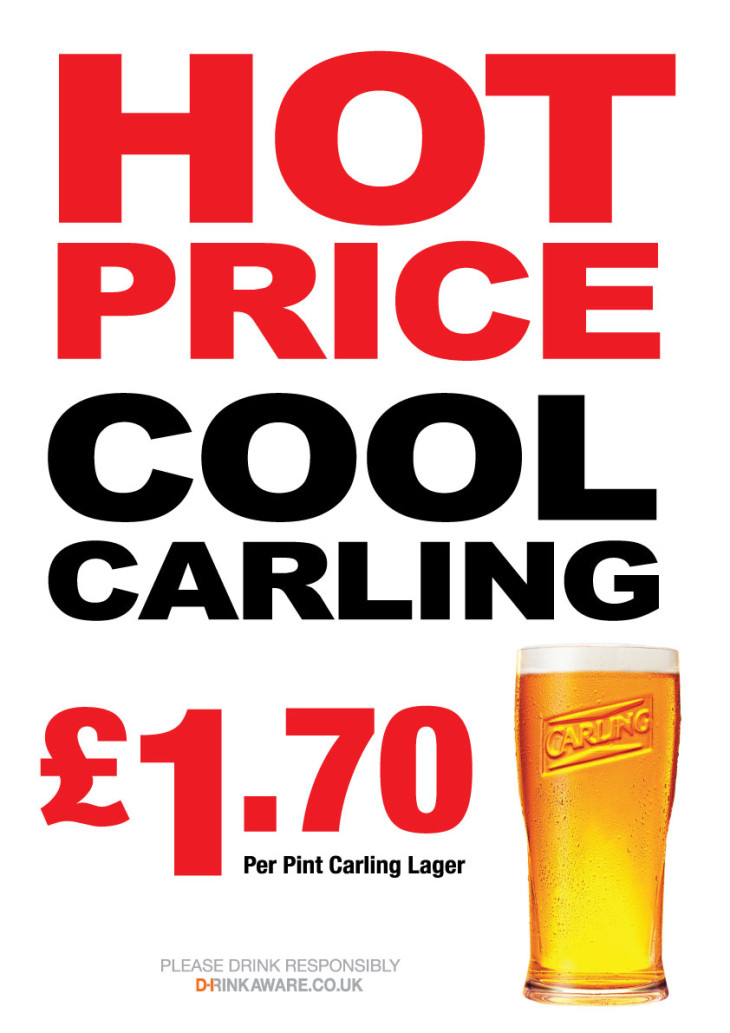 Hot price, cool Carling
