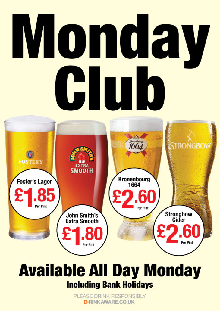 Monday Club for the Punch Bowl