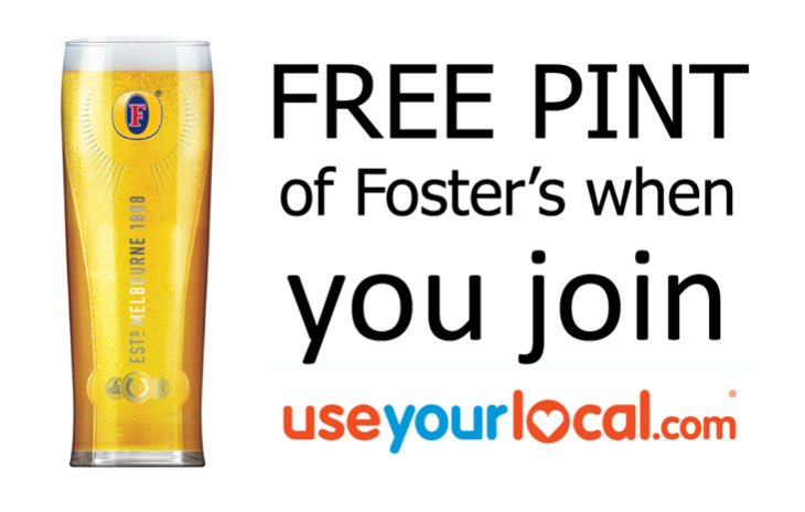 free pint of Fosters