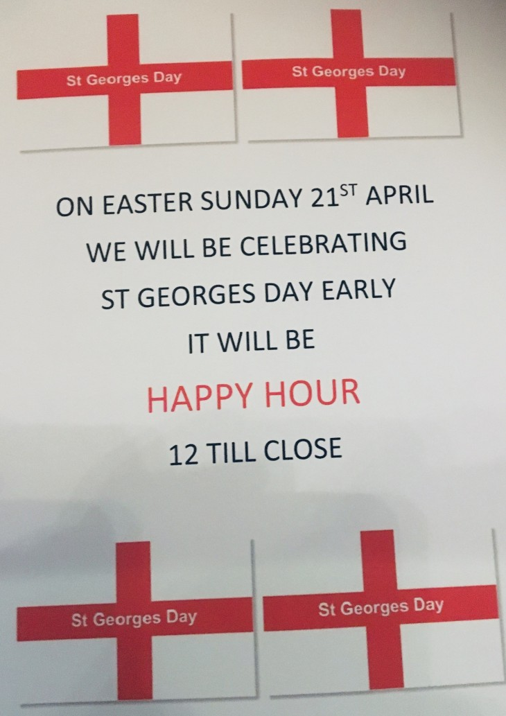 St George's Day - Happy Hour