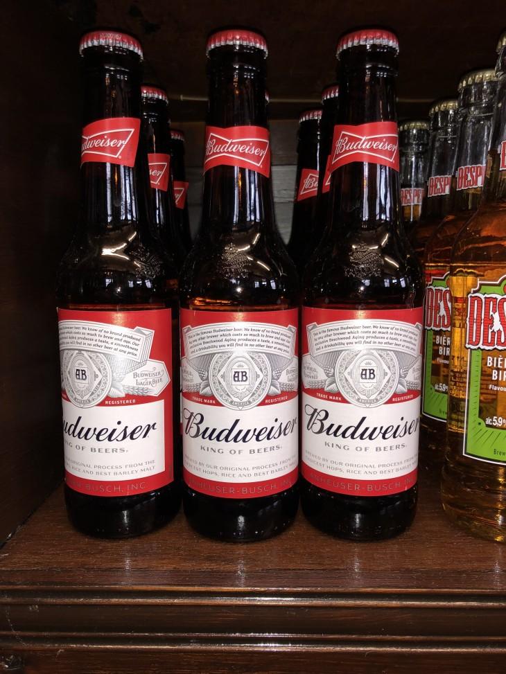 2 x Budweiser's £5