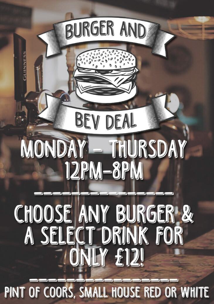 Burger & Bev only £12