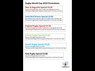 Rugby World Cup Specials