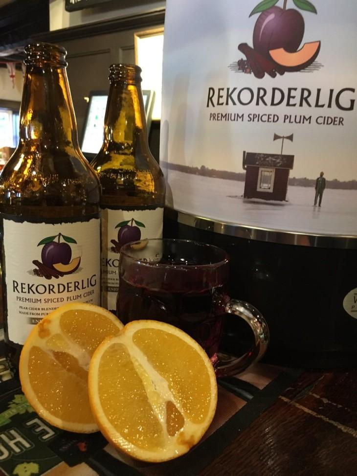 Spiced plum cider