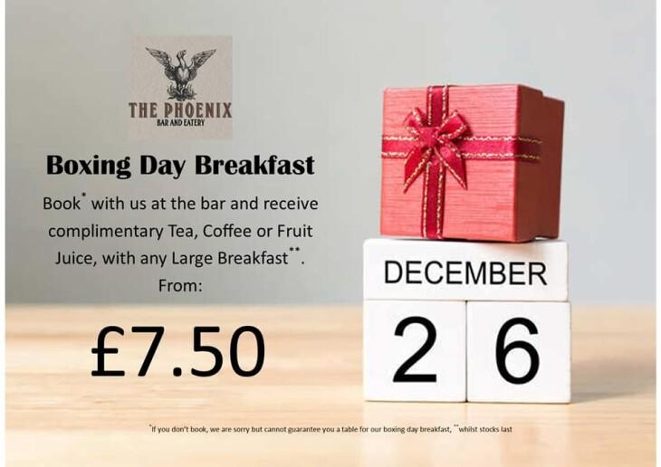 Boxing Day Breakfast