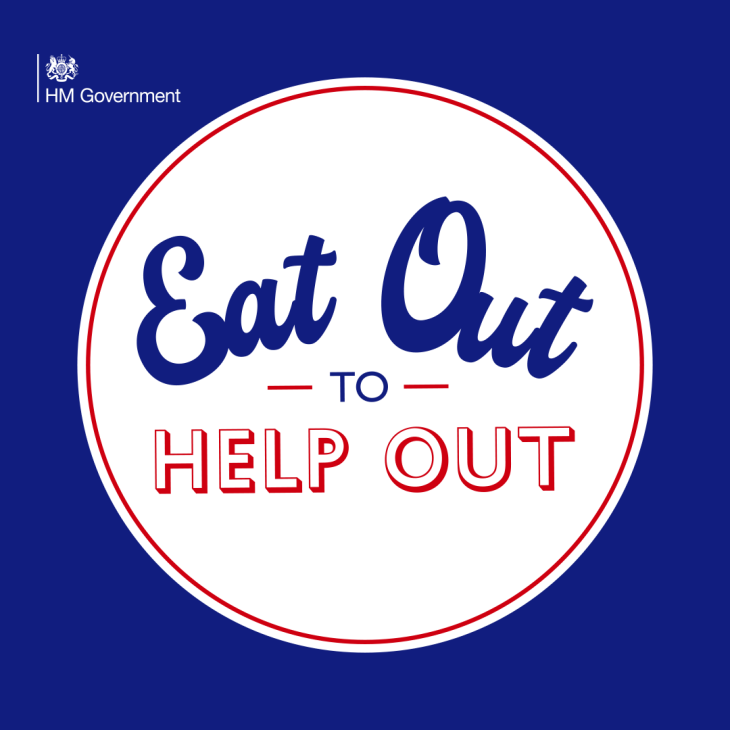 Eat out to help out - 50% discount!