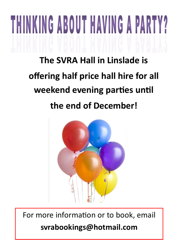 Half Price Hall Bookings