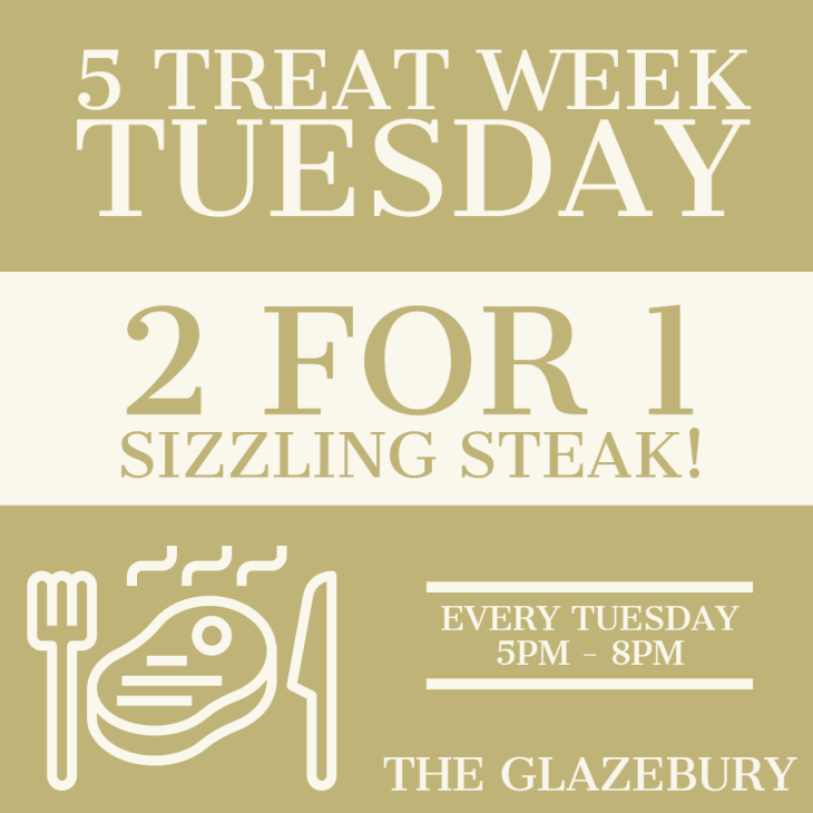 2 FOR 1 Sizzling Steak!