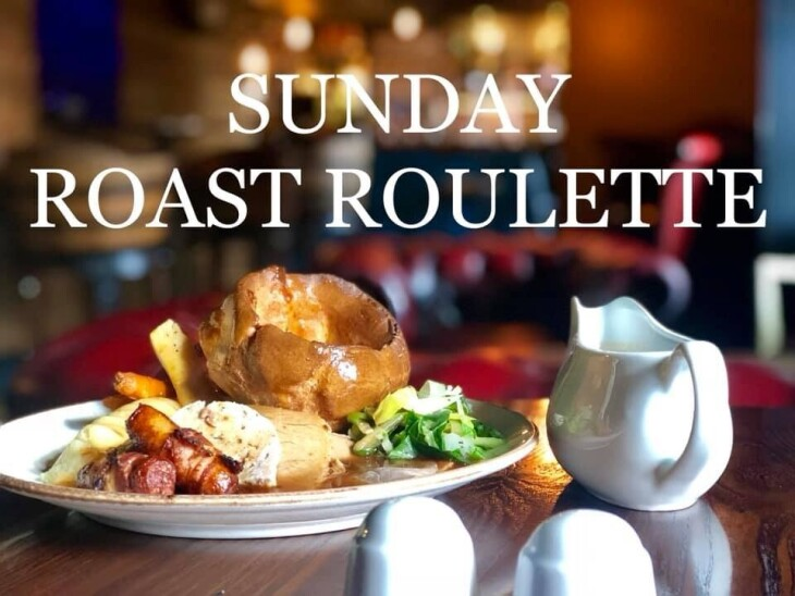 Sunday lunch with wine £25