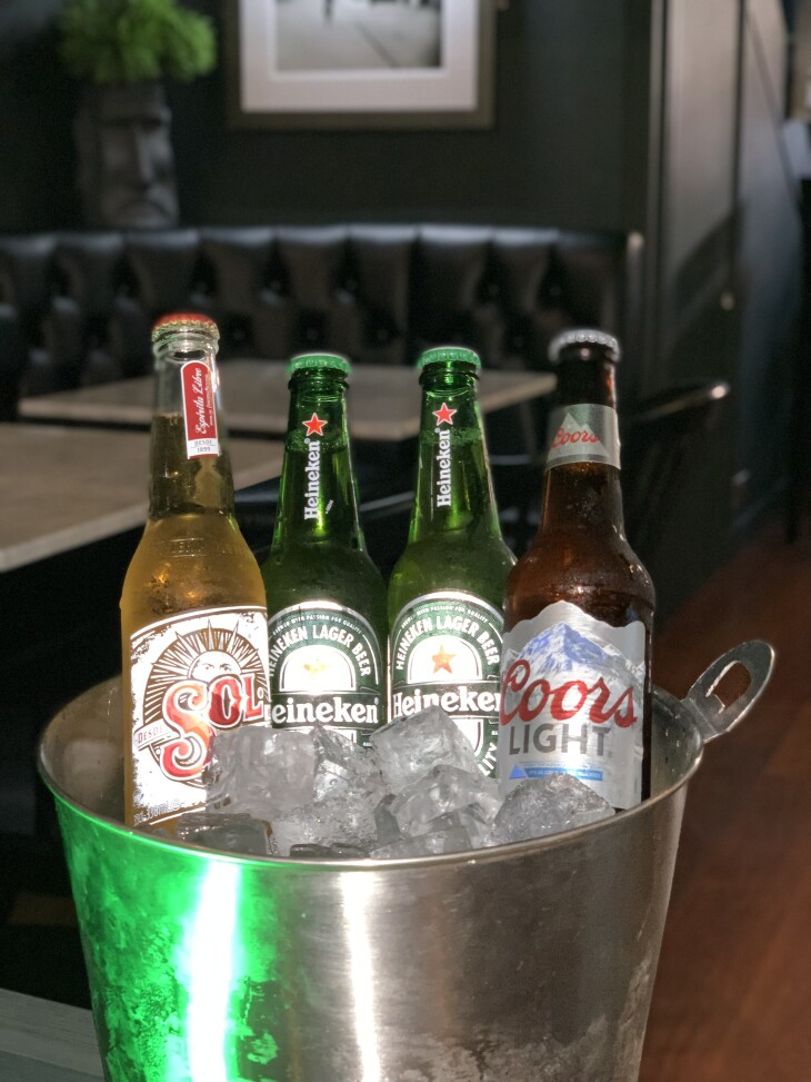 4 selected bottles of beer for £10