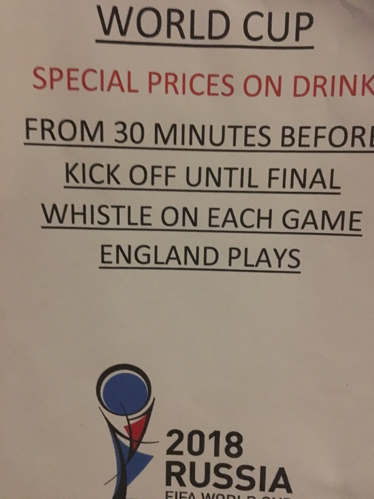 England Matches During World Cup 2018
