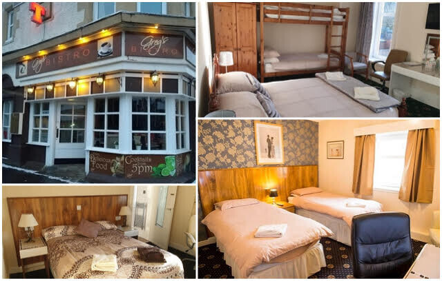 Dinner bed and breakfast £35pp
