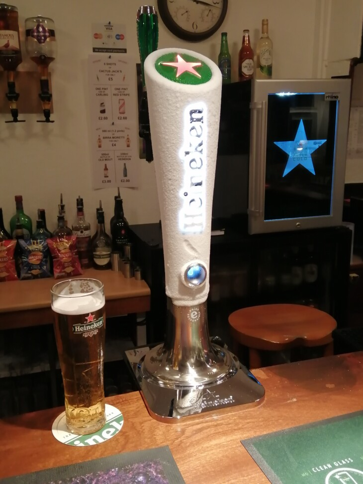 Heineken Extra Cold Draught available!
