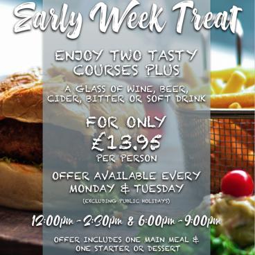 Enjoy our Early Week Treat!