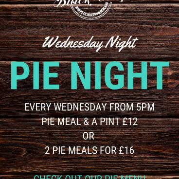 Pie Night Every Wednesday!