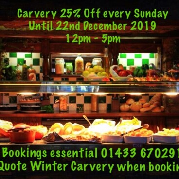 Carvery 25% every Sunday