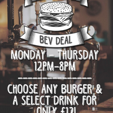 Burger & Bev only £12