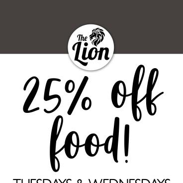 25% Off Food