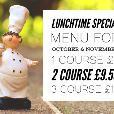 £7 Lunch Time Special Menu