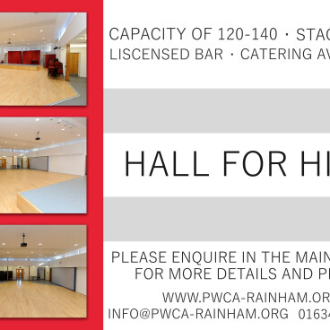 Hall Hire - BIG Discounts for Friday's