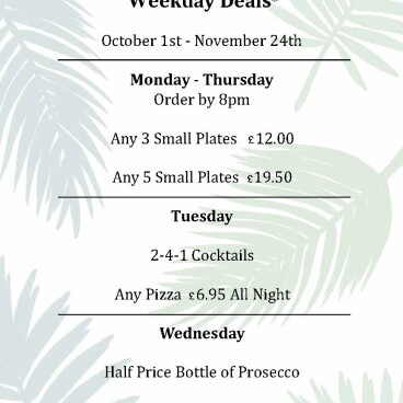 Weekday Meal and Drink Deals