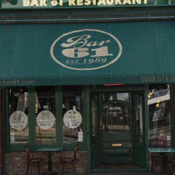 Bar 61, London SW2